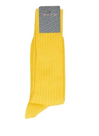 Alto Socks Alto Socks  Çizgi Dokulu Erkek Çorap 101643913 Sarı